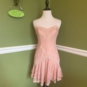 Shophopes Blush Pink Lace Dress